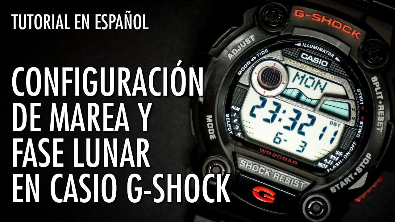 Cómo Fase Mx Lunar Y El Relojero Marea En Casio G Configurar Shock 9WEDHI2