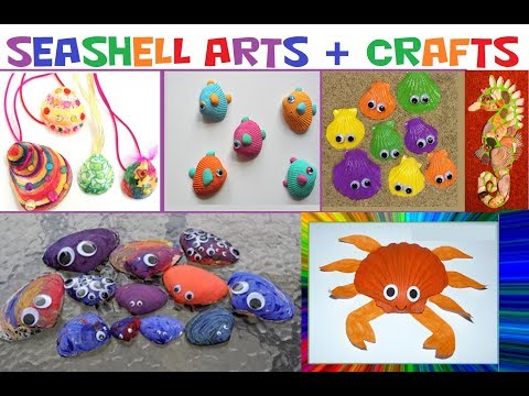 🐚Sea Shell Arts and Crafts! Crafts for Kids!🐚