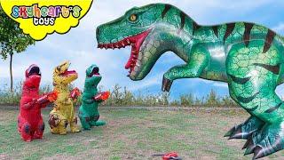 Skyheart vs. Giant T-Rex Part 2!! dinosaurs for kids battle jurassic dino fight action