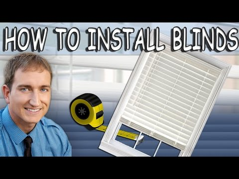 How To Install Cordless Faux Wood Window Blinds