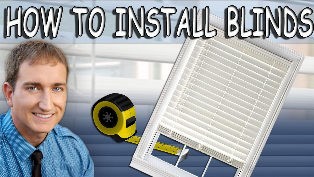 how to install cordless faux wood window blinds youtube. Black Bedroom Furniture Sets. Home Design Ideas