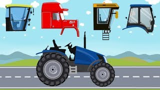 Learn Farm Vehicles for Kids with Tractor. Pretend Play with Agricultural Toy. बच्चों के लिए वीडियो