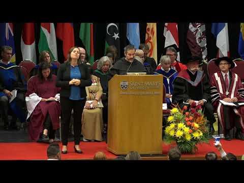 Convocation Ceremony at Saint Mary's University, Halifax, Nova Scotia, Canada (September 29, 2017)