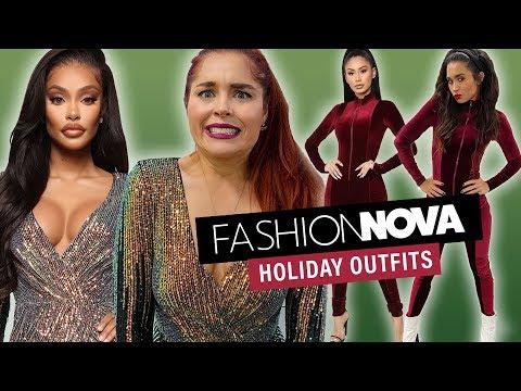 We Try Fashion Nova Holiday Outfits!!