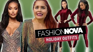 We Try Fashion Nova Holiday Outfits!!