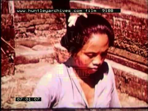 Film about the sights of Indonesia, Asia, 1950's -- Film 9188