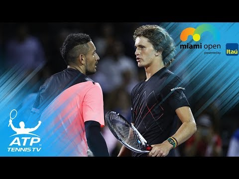 Alexander Zverev vs Nick Kyrgios: Best Shots and Moments | Miami Open 2018