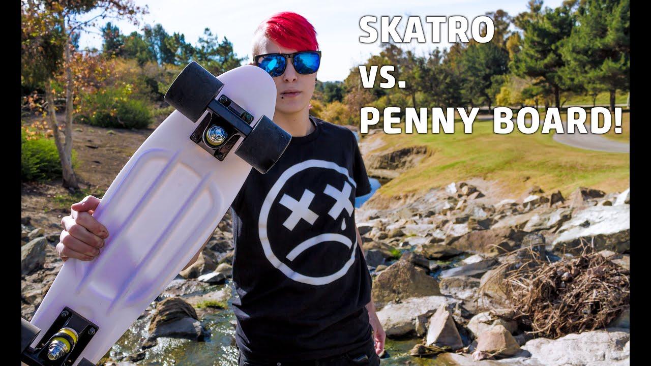 Penny Board VS. Skatro - YouTube ea9f1e4641b