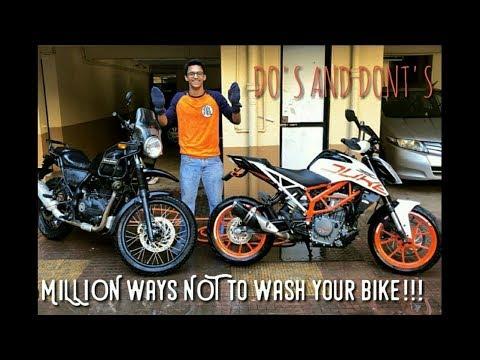 MILLION ways NOT to wash your bike !!!!!