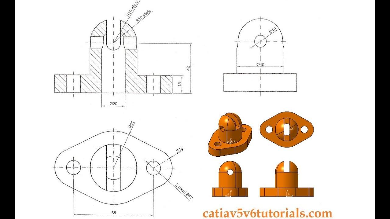 catia v5 tutorial beginner 7 sketch pad hole shaft youtube. Black Bedroom Furniture Sets. Home Design Ideas