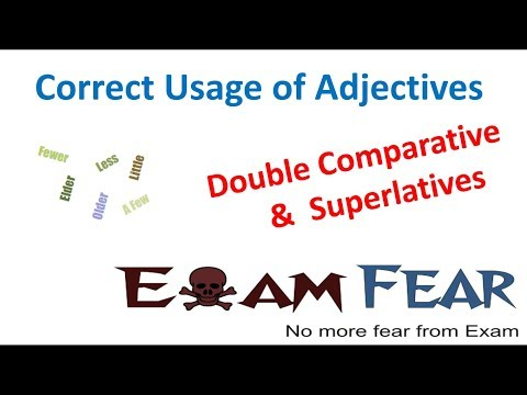 Double Comparative and Superlatives : English Grammar Correct Usage of Adjective Part 10