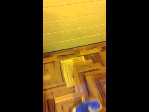 Finishing hardwood parquetry