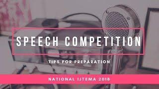 MKA UK Ijtema 2018 - Speech Competition - Preparation Tips