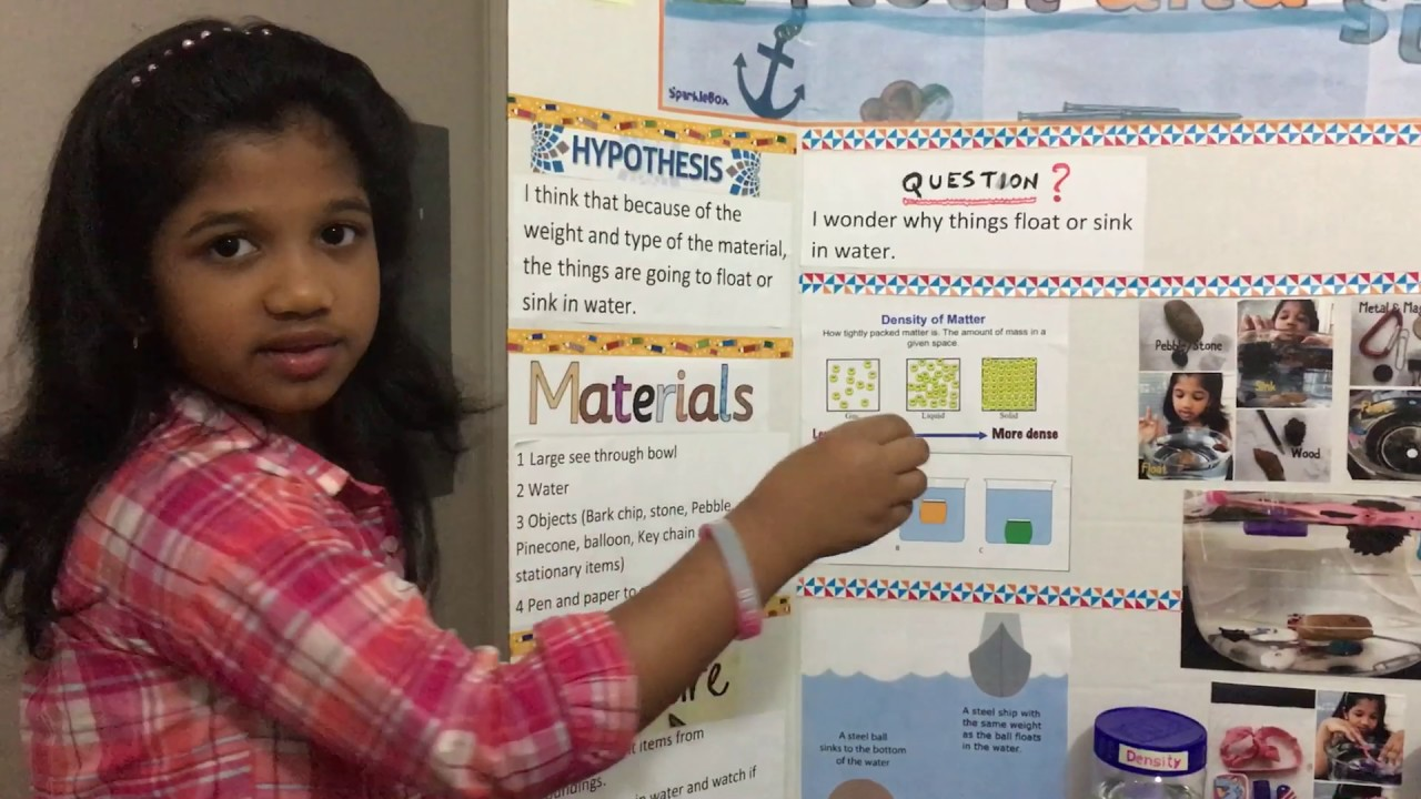 First Grade Science Fair Project - YouTube