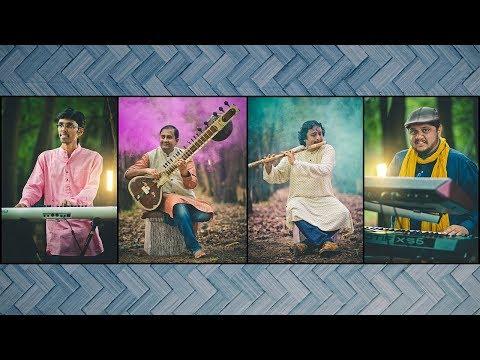 Indian Classical Fusion Music   Play Full   Blend Of Sitar,Tabla, Flute & Keyboard   Ateetam