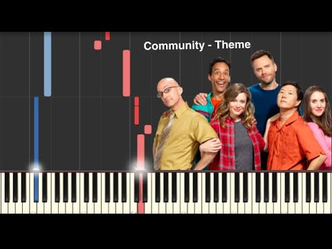 Community Peion   Community Theme Song Piano Tutorial Youtube