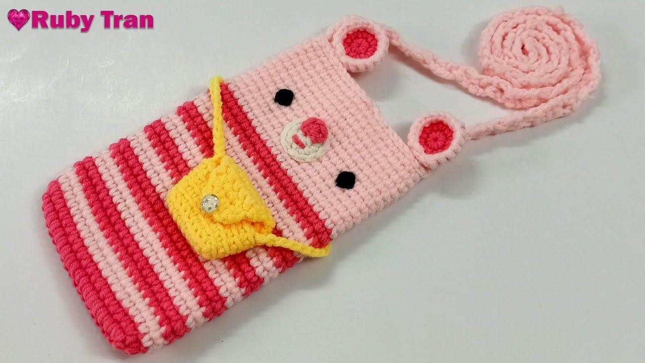 Hướng Dẫn Móc Túi Đựng Điện Thoại Bằng Len | Crochet Bag Phone Handmade