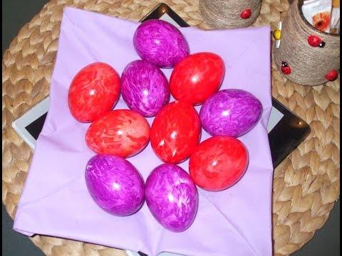 Par vopsit cu vopsea de oua