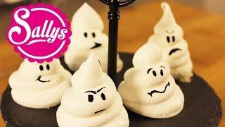 Baiser-Geister / schnelle Halloween Idee / Achtung jetzt wird es gruselig :)