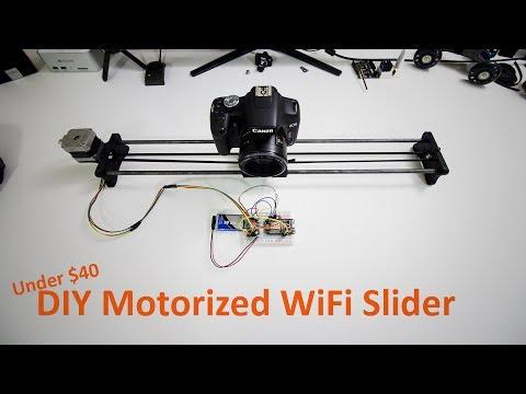 DIY Motorized Wifi Camera Slider w/ ESP8266