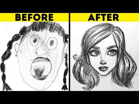HOW TO DRAW PEOPLE ||  25 WAYS FROM AN AMATEUR TO AN ARTIST