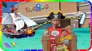 Bottle Flip for Ryan's Treasure Chest at Toys R Us!!! Ryan's World Toys 🐯🤣👍