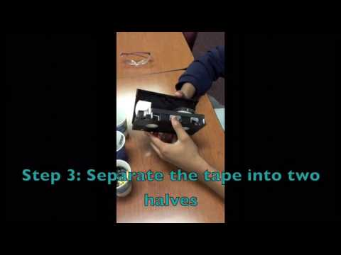 Taking apart a VHS Tape