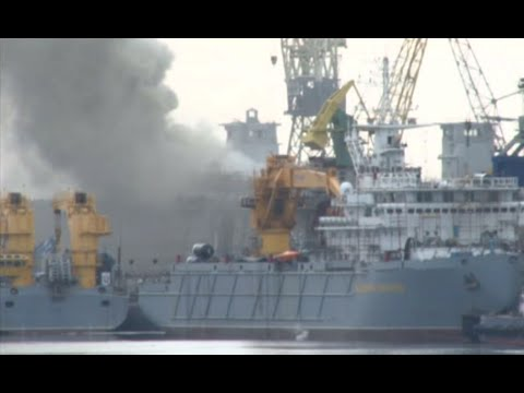 Russian nuclear submarine ablaze at shipyard in Severodvinsk