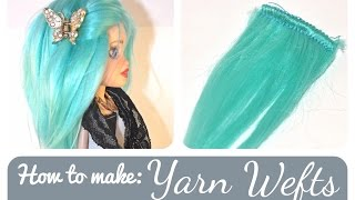 How to make: Yarn Weft for a doll wig