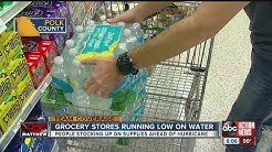 Grocery stores running low on water