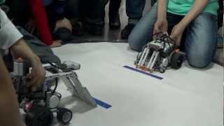 Тренировка перед сумо роботов