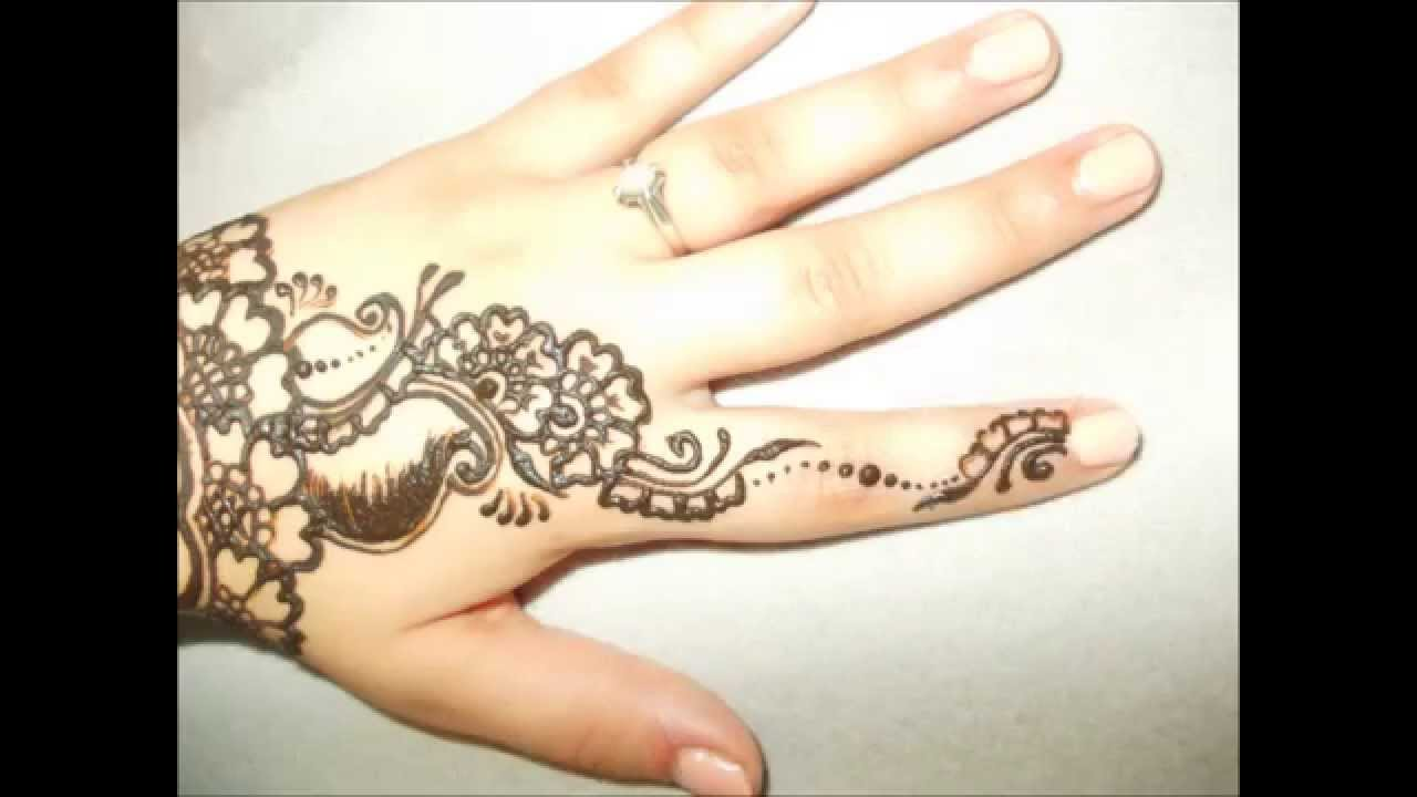 Step by Step] Simple Mehndi Design #4 - YouTube