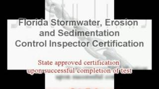 Florida Stormwater Inspector Course