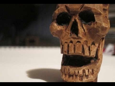 Skull Wood Carving How To Tutorial Schpoingle Youtube