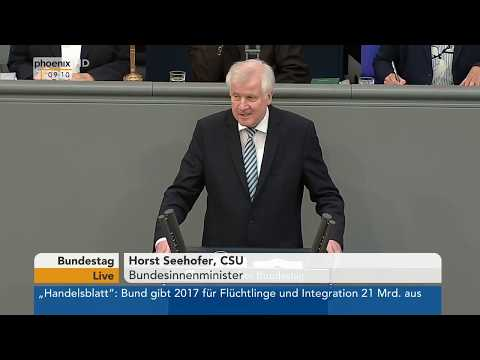 Rede von Horst Seehofer zum Etat für Inneres, Bau und Heimat am 17.05.18