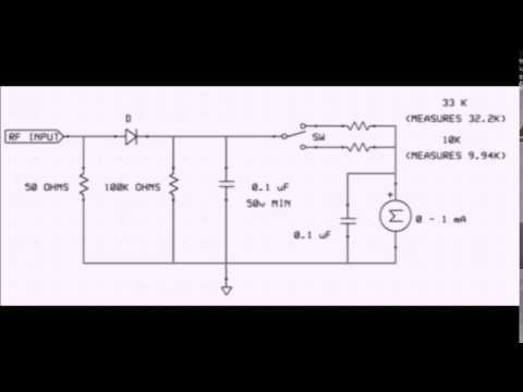 A Simple RF Wattmeter for use with QRP Transmitters