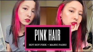 PINTEI O CABELO! Cabelo Rosa/ Manic panic - hot hot pink