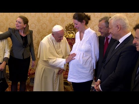 Pope Francis meets with European Federation for Life and Human Dignity