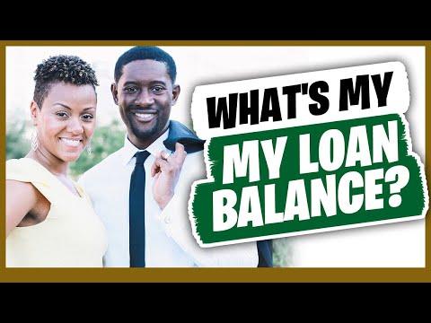 What's My Loan Balance?