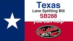 Texas SB 288 Lane Splitting Bill