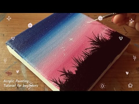 Acrylic painting | Landscape Painting | Painting Tutorial for beginners