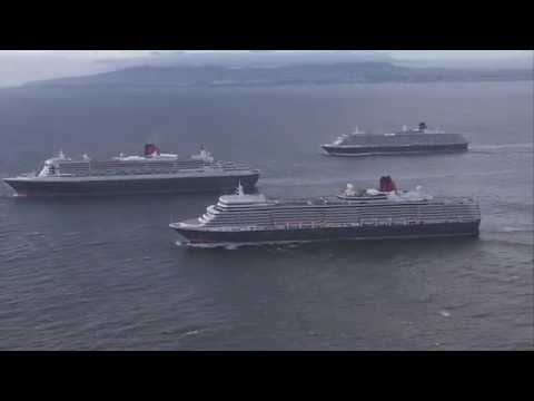 Cunard's 3 Queens arrive in Southampton to celebrate Queen Mary 2's 10th Anniversary