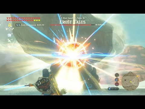 Upgraded Master Sword Beam Annihilates Frost Talus - Zelda Breath of the Wild