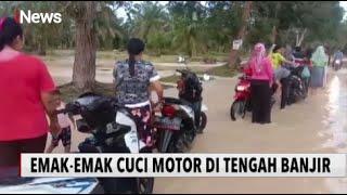 HEBOH! Emak-emak di Asahan Sibuk Cuci Motor di Tengah Banjir - iNews Sore 02/12