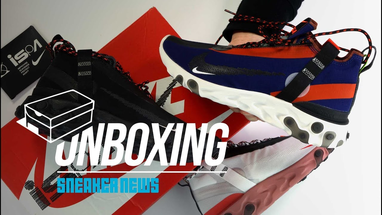 8fdf18130c685 Nike React Runner Mid WR ISPA Unboxing + Review - YouTube