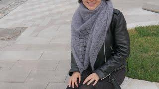 Вяжем шикарную шаль спицами! Подробный МК для начинающих  Схема шали и описание шали спицами