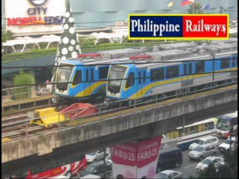 LRT-1 and MRT-3 Trains at SM North EDSA