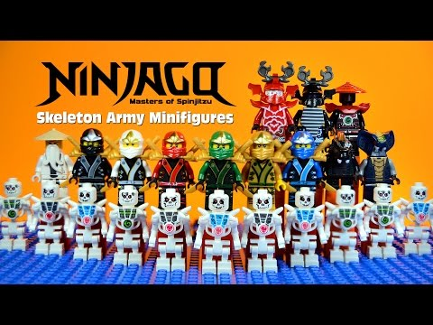 LEGO Ninjago Masters of Spinjitzu vs Skeleton Warriors KnockOff Minifigures Set 10