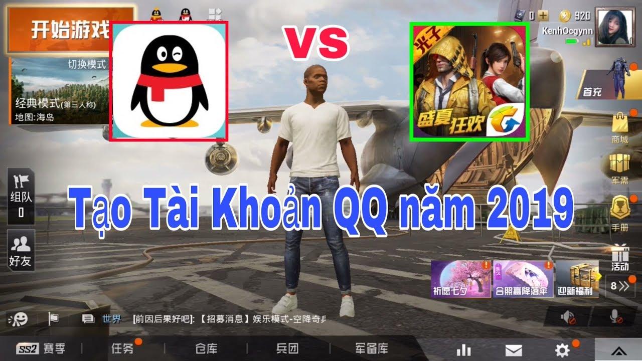 Cách Đăng Ký Tài Khoản QQ Để Đăng Nhập Game PUBG mobile china   Kênh Ocgynn.