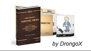 Обзор Fallout 4 Survival Guide Руководство по выживанию Фоллаут 4, коллекционное издание ништяки